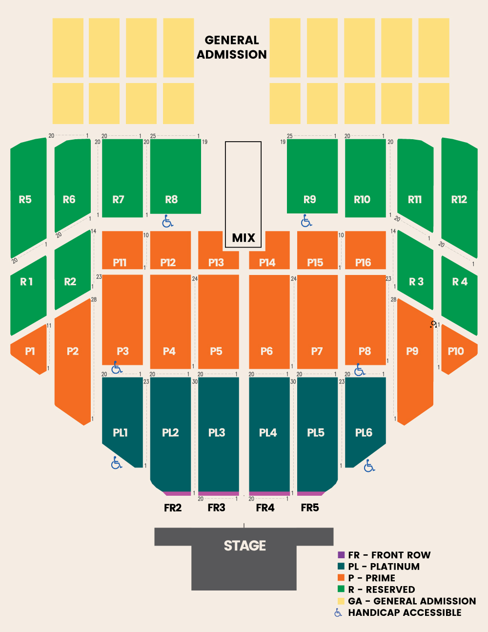 Jazz In The Gardens Jazz In The Gardens Seating Chart Miami Gardens Florida