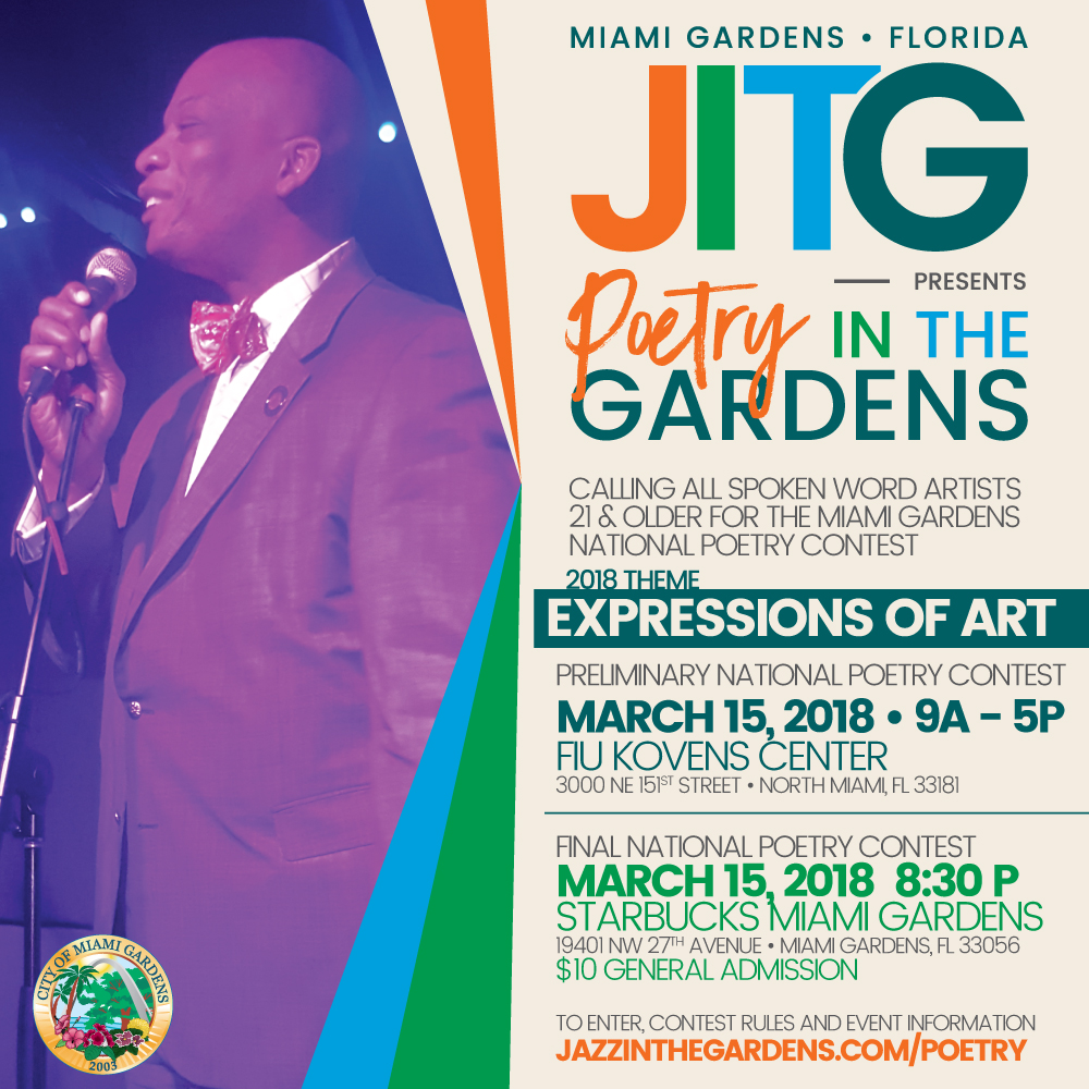 JITG PoetryContest FINAL - Miami Jazz In The Gardens 2018 Lineup